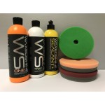 Waxedshine polish and sealant set